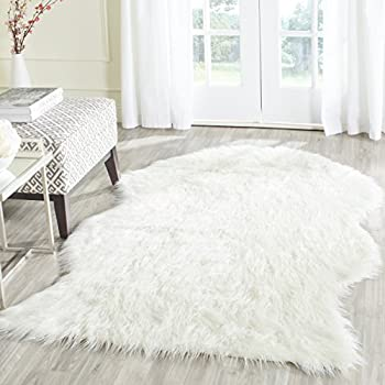 Amazon Com Faux Sheepskin Area Rug 5 X8 White Kitchen