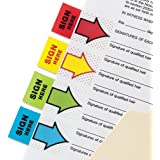 3M 680-9 - Post-it Index Flags 25mm Sign Here 50 Tabs Red 680-9