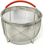 6qt steamer - The Original Salbree 6qt Steamer Basket for Instant Pot Accessories, Stainless Steel Strainer and Insert fits IP Insta Pot, Instapot 6qt & 8qt, Other Pressure Cookers and Pots, Premium Silicone Handle