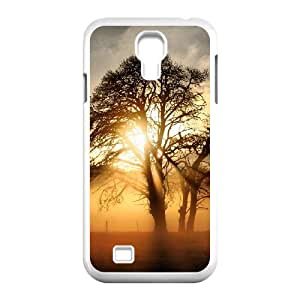 Okaycosama Funny Samsung Galaxy S4 Cases Fog Across the Field Cheap for Girls, Samsung Galaxy S4 Case for Girls, [White]