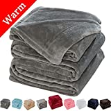 Oversized Blankets for King Beds Sonoro Kate Fleece Blanket Soft Warm Fuzzy Plush King(104-Inch-by-90-Inch) Lightweight Cozy Bed Couch Blanket,Easy Care, Grey
