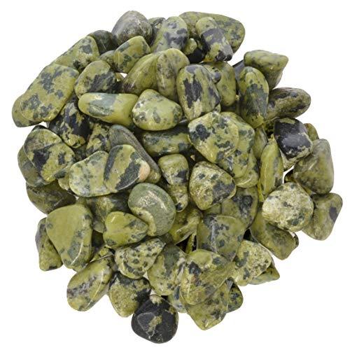 Hypnotic Gems Materials: 1 lb Nephrite Jade Tumbled Stones - Grade 1 - XSmall - 0.5