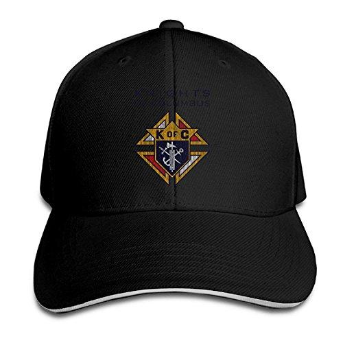 T121 Knights Of Columbus K Of C Sandwich Adjustable Cap Outdoor Hat Black