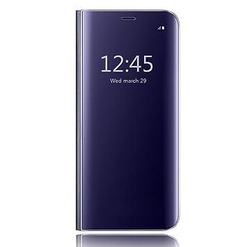 HiChili Funda Samsung Galaxy S7 Edge, Clear Standing Flip Cover ...