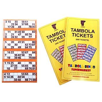 Tambola Bingo Tambola Tickets: Orange Border