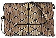 Geometric Shard Lattice Crossbody Shoulder Bags For Women Small PU Leather Holographic Purse