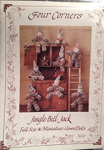 Four Corners Jingle Bell Jack Full Size & Miniature Clown Dolls ()