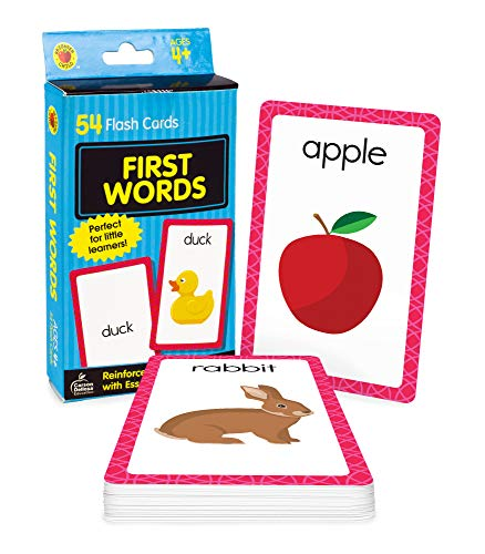 Carson Dellosa First Words Flash Cards—Double-Sided, Common Words With Illustrations, Basic Animals, Food, Objects, Phonics and Reading Readiness Practice Set (54 pc) Cards – March 15, 2006