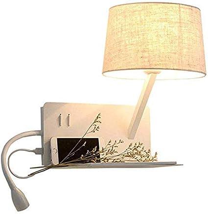 SUNA Dormitorio Lámpara De Pared USB Teléfono Móvil Carga Tubo ...