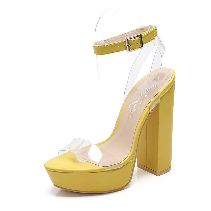 b9c6bc2ce29 Amazon.com   Mackin Girl Sandals G186-1 Women's Ankle Strap Clear ...