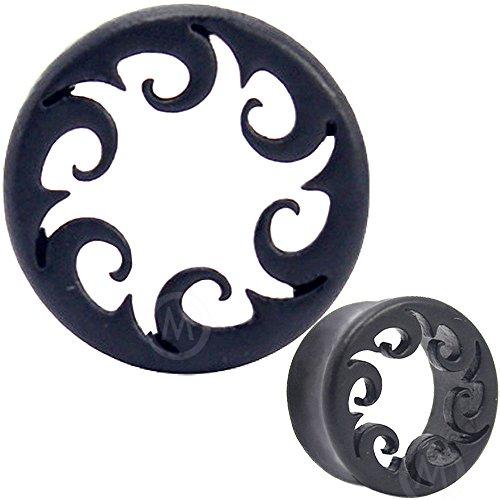 MoDTanOiz Flesh tunnels ear plug wood gauges earring Expander Earlets Steel piercing flare 1/2 12mm