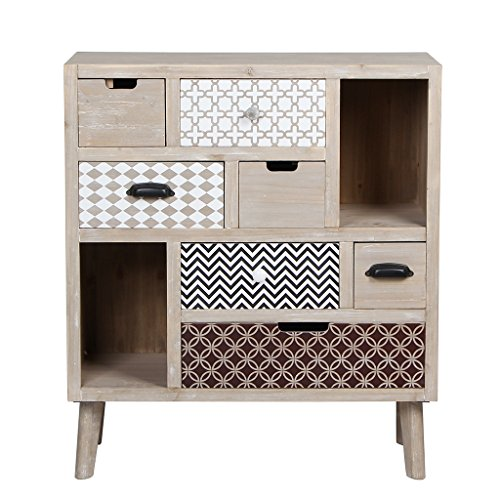 Storage Drawers Made Of Wooden, Handmade Multifunctional Cabinet With Legs by VIVA HOME