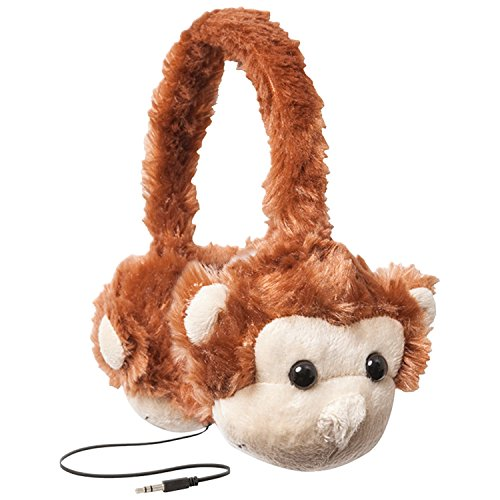 ReTrak ETAUDFMNKY Animalz Tangle-Free and Volume Limiting (85 dB) Over Ear Headphones for Kids, Monkey