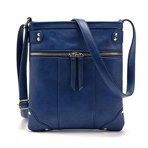 Small Crossbody Girls Faux Purse ZOONAI for Leather Crossover Bag Teen for Shoulder Blue Women Uawqd1