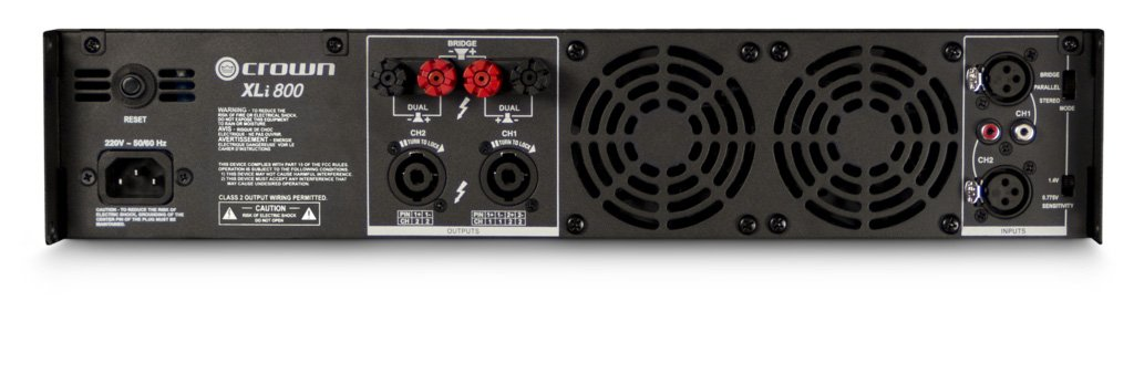 Crown XLi800 Two-channel, 300W at 4Ω Power Amplifier by Crown