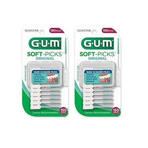 (HEALTHY GUMS, HEALTHY LIFE Gum SOFT PICK, CONVENIENT 2 TRAVEL CASES 300 SOFT PICKS (300))