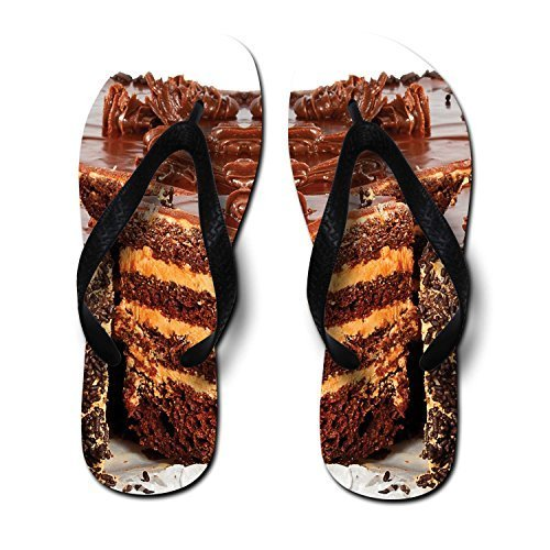 Zaza ChococakePrintingUnisexFlipFlops,Medium