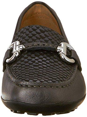 loafers Mocassins Geox Donna Euxo Femme c999 Noir qcTptE0wp