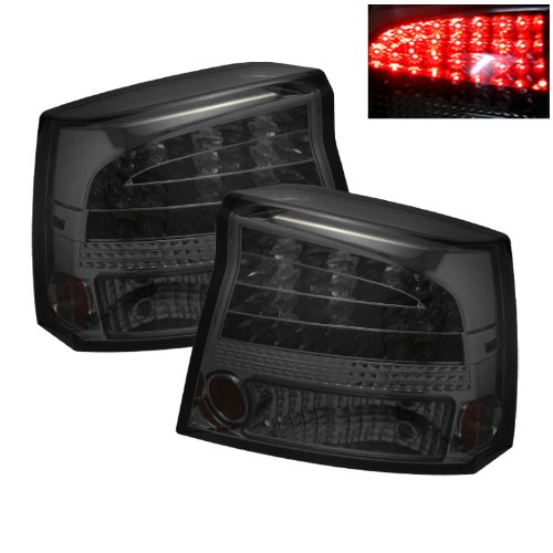Euro LED Style Tail Light for Dodge Charger 06-08 - Chrome Smoked
