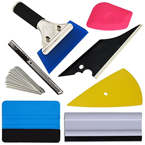 - Ehdis New Arrival!! 7 PCS Vehicle Glass Protective Film Car Window Wrapping Tint Vinyl Installing Tool: Squeegees, Scrapers, Film Cutters