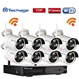 Techage 8CH Home Surveillance System Wireless NVR Kit 960P Video Recorder + 1.0MP WiFi IP Camera 3PCS LEDs CCTV System Kit Without Hard Drive For Sale