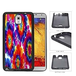 Tie Dye Hippie Flower Power Design Rubber Silicone TPU Cell Phone Case Samsung Galaxy Note 3 III N9000 N9002 N9005