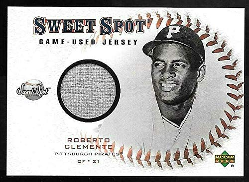 - 2001 Upper Deck Sweet Spot #JROB Roberto Clemente Game Used Jersey Card