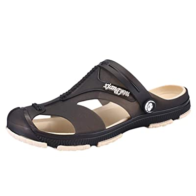 Corriee Mens Summer Fashion Beach Sandals Water Shoes Indoor Outdoor Slippers Men's Fisherman Sandals: Clothing