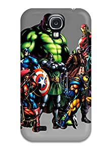 Galaxy S4 Case Cover - Slim Fit Tpu Protector Shock Absorbent Case (marvel)