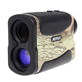 Laser Rangefinder for Hunting and Golf, 700 Yards 6X 25mm Range finder with Speed, Scan and Fog measurement