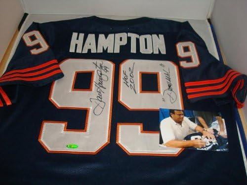 Dan Hampton Signed Chicago Bears Jersey, TRISTAR, w/inscriptions