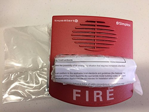 SIMPLEX 49AV-WRF - A/V Addressable Multi-Candela Wall MT With Fire Markings (Red) - Addressable Smoke Detectors