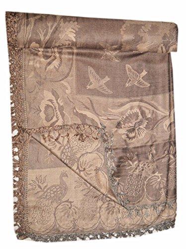 Jacquard Throw or Bedspread. Wool & Silk.Jamavar. Paisley, Jamawar (Jamawar Bedspread)