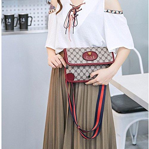 Bolso Crossbody Prints Red Shoulder Manera Simple Bags La De Lady CwRq6t6