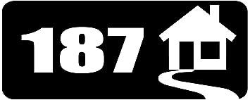 Hausnummer 187vinyl Aufkleber Schwarz 20 X 8 Amazonde