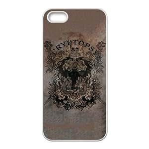 CRYPTOPSY 08 funda iPhone 4 4s funda del teléfono celular de cubierta blanca, el funda iPhone 4 4s casos funda blanca