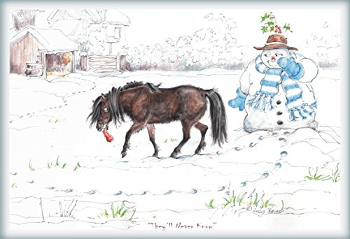 Funny Horse Christmas Greeting Cards (Equestrian Holiday Themed) | Jude Too (