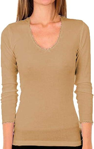Penades Ferrero - Camiseta Interior Lara Mujer Manga Larga Mujer: Amazon.es: Ropa y accesorios