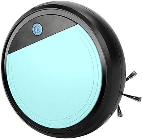 FLAMEER Robot Aspirador Tecnología Avanzada, Aspiradora, Barredora, Fregadora y Pasa Mopa USB Carga 15 Grados de Escalada - Negro + Cian: Amazon.es: Hogar