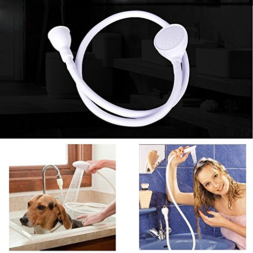 (Multi-Functional Pet Dog Cat Cleaning Shower Head Spray Drains Strainer Bath Hose Sink Washing Hair Pet Water Shower Head New)