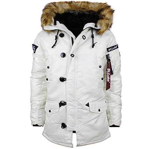 White Parka Jacket | Fit Jacket