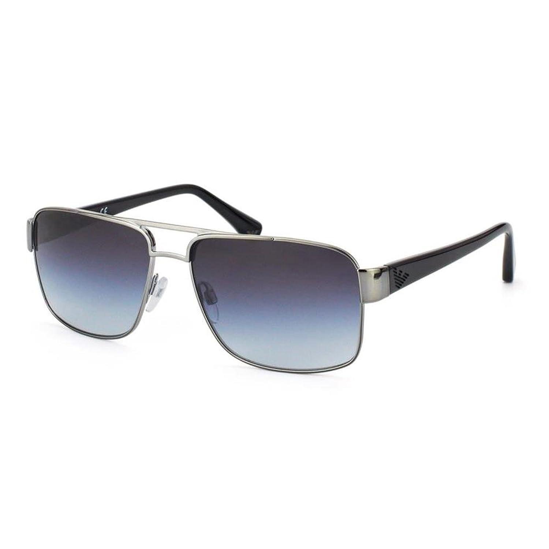 Emporio Armani Herren Rechteckig Sonnenbrille Essential Leisure, Gr. One Size, Grau (Gunmetal/Grey Grad)