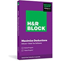 H&R Block Tax Software Deluxe + State 2020 with Refund Bonus Deals