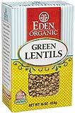 Organic Green Lentils Dry 16 Oz. -Pack of 12