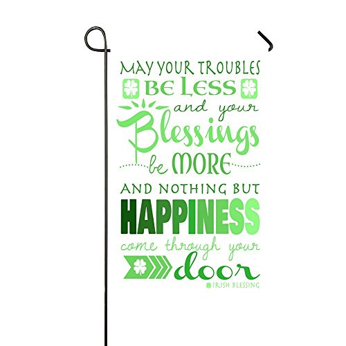 - Lily's Rossne Home Garden Flag, Irish Blessing St.Patrick's Day Outdoor Garden Flags, Nothing But Happiness Garden Flag Decor Accept Customized Flag 12.5 x 18 Inch