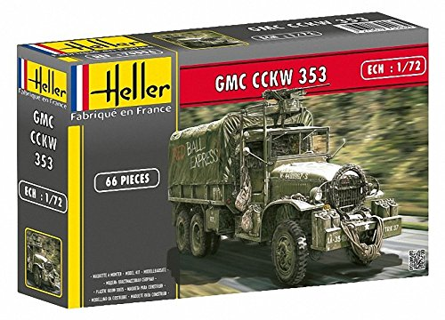 Heller GMC CCKW 353 Military Truck with Canvas-Type Cover (1/72 (Gmc Military Trucks)