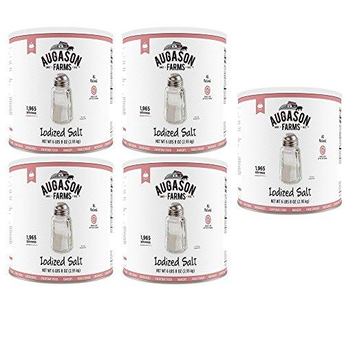 Augason Farms Iodized Salt 104 oz #10 Can (5 Cans) by Augason Farms (Image #1)
