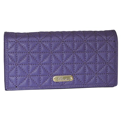 Buxton Double Diamond Quilt Expandable Clutch (Mulberry) (Clutch Mulberry)
