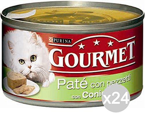 Purina Juego 24 Gourmet latas Conejo Gr 195 Pate Comida para ...