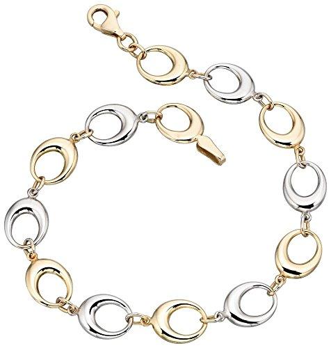 Mon-bijou - D403a - Bracelet luxe Or blanc et Or 375/1000 carats